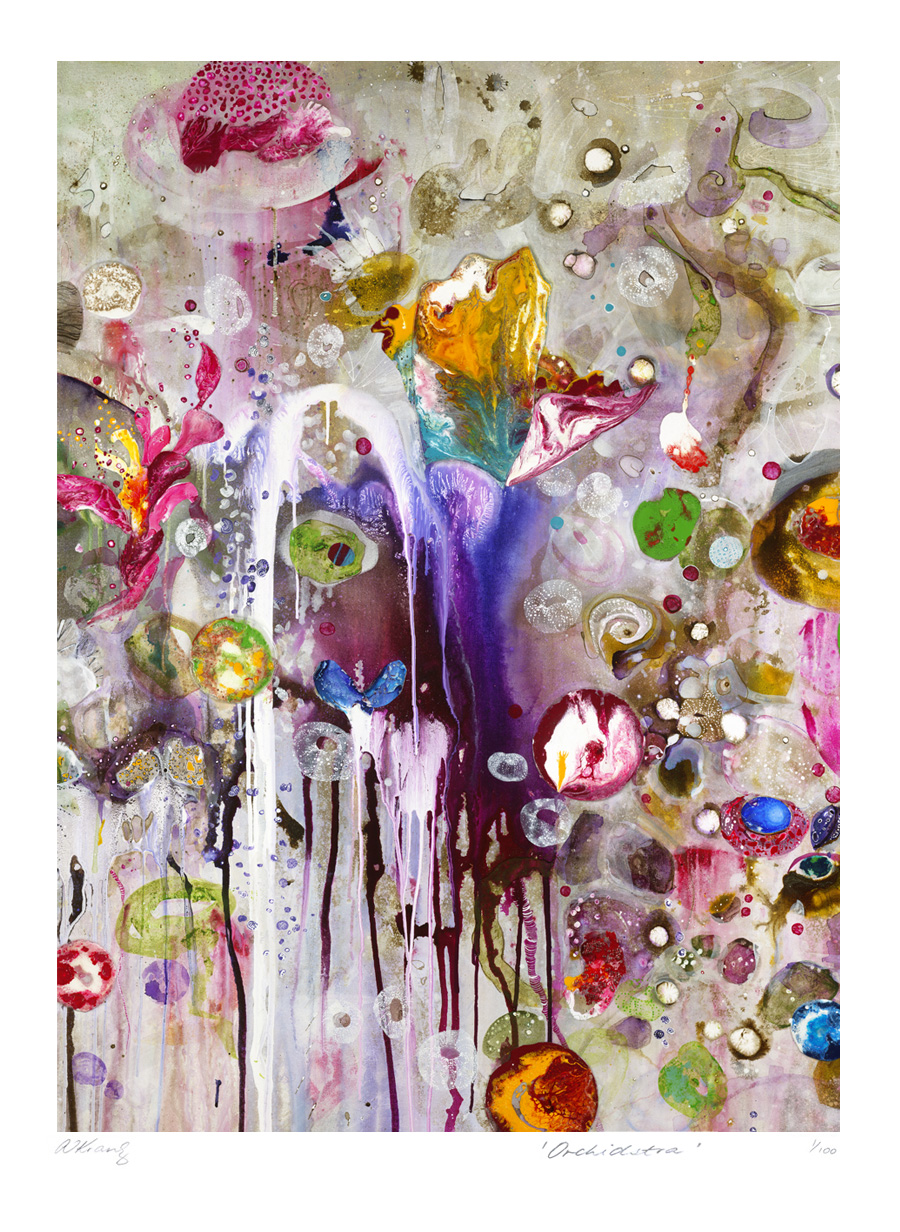 Amanda krantz 39 orchidstra 39 print size 46cm x 36cm will for Ikea frame sizes australia